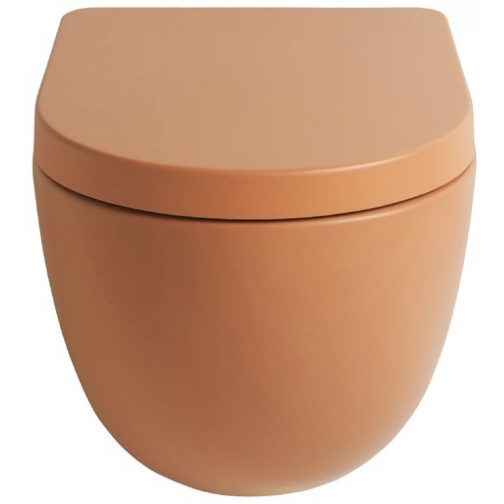 File 2.0 rimless væghængt toilet Terracotta-31
